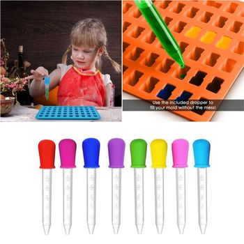 8 Pcs Baby Medicine Feeder Dropper Clear Silicone Graduated Pipette Liquid Food Dropper School Lab Supplies 5ML baby pacifier type medicine feeder baby anti choke silicone medicine feeder syringe type medicine feeder with measuring cup