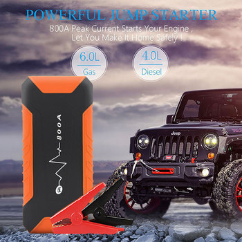 12000mAh Portable Car Jump Starter Power Bank 800A Peak Automotive Battery Charger Powerbank image