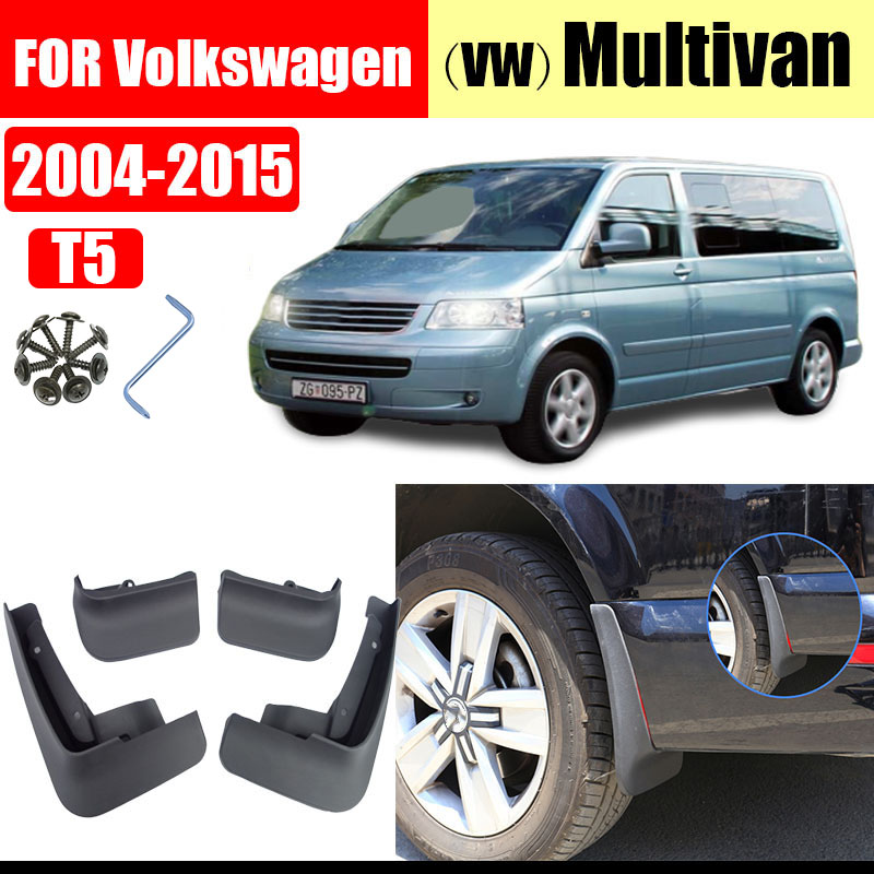 Mud flaps for <font><b>VW</b></font> Multivan T5 <font><b>Mudflap</b></font> splash Guard Fenders Multivan Mudguards Fender car accessories Front Rear 4 pcs 2004-2015 image