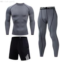 Men Set Thermal-Underwear Suit Clothing Compression Long-Johns Men's Winter Male MMA