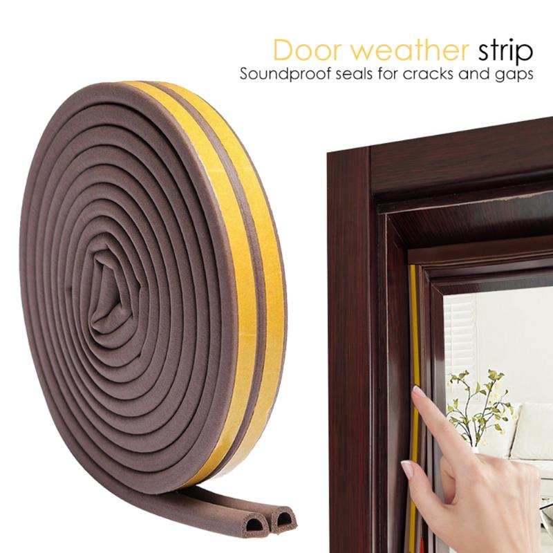 Doors Windows PVC Silicone Seal Soundproofing Collision Avoidance Sealing Strip Kitchen Hardware Decortion Accessory