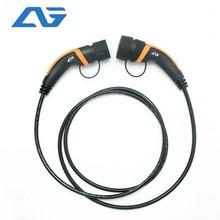 32A EV fiche câble Type 2 à Type 2 IEC 62196 2 EV fiche de charge avec câble de 5 mètres TUV/UL Mennekes 2 connecteur