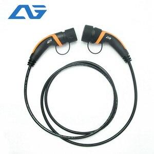 Image 1 - 32A EV fiche câble Type 2 à Type 2 IEC 62196 2 EV fiche de charge avec câble de 5 mètres TUV/UL Mennekes 2 connecteur