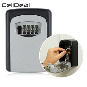 Key Lock-Box Key-Storage Wall-Mounted 4-Digit-Combination Aluminum-Alloy Outdoor Weatherproof