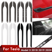 4PCS For Tesla Model 3 Door Handle Protector Sticker Door Handle Wrap Cover For Tesla Model 3 Accessories Carbon Black Model3