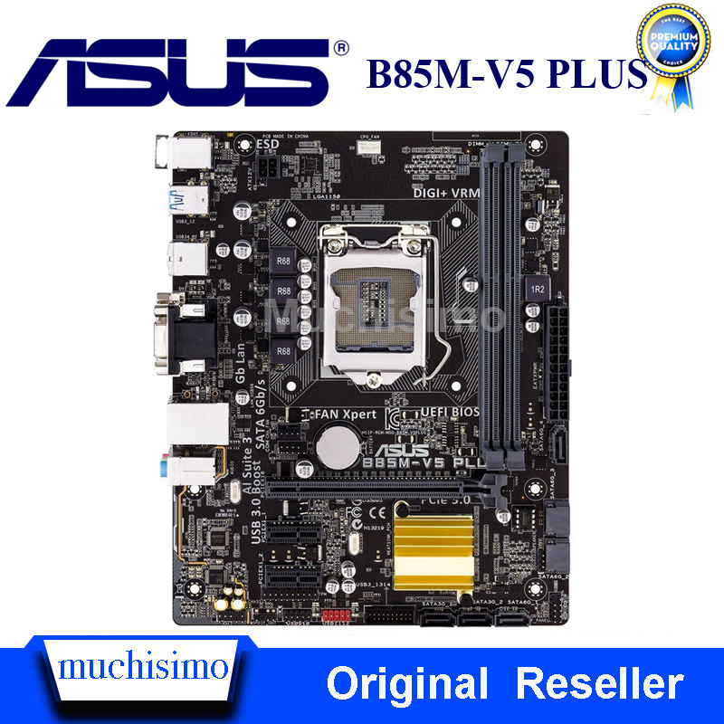 <font><b>Socket</b></font> LGA1150 For ASUS B85M-V5 PLUS Original Desktop USB3.0 SATA3 PCI-E3.0 for Intel B85 V5 Plus Motherboard DDR3 Refurbished image