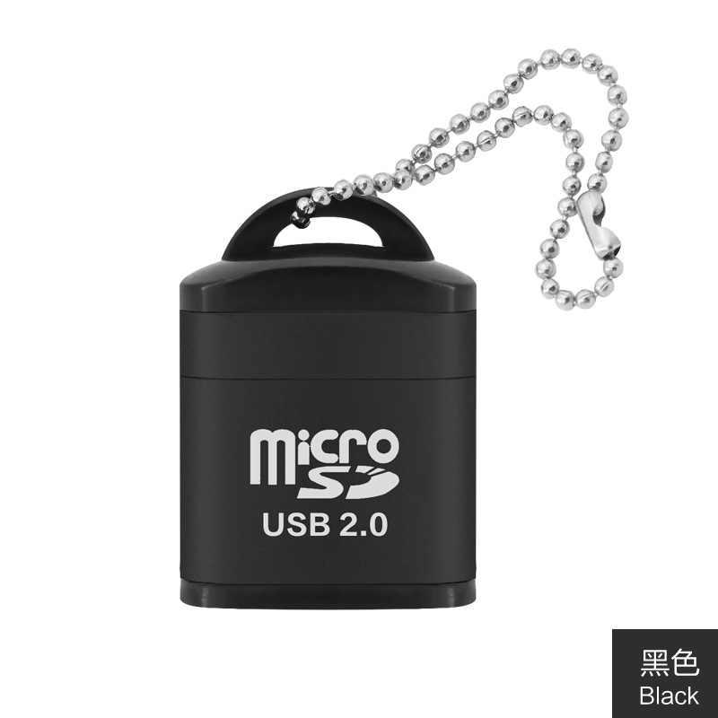 Yüksek hızlı USB2.0 kart okuyucu mini USB TF kart adaptörü için microSD hafıza kartı için pc bilgisayar masaüstü dizüstü dizüstü
