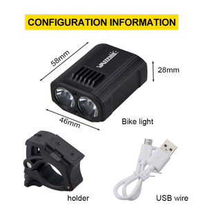 Image 4 - Waterproof USB Rechargeable Bike Light 5 Light Modes MTB Cycling Light Built In Battery Bicycle Lamp for Safety Night Cycling