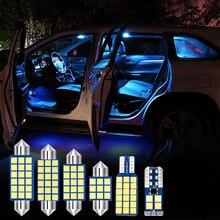 4 шт Автомобильный светодиодный комплект ламп для салона автомобиля