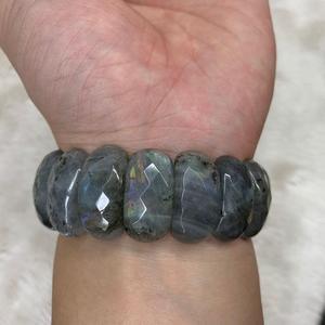 Image 2 - Labradorite pedra natural pulseira pulseira de pedra natural jóias diy para mulher para presente atacado!