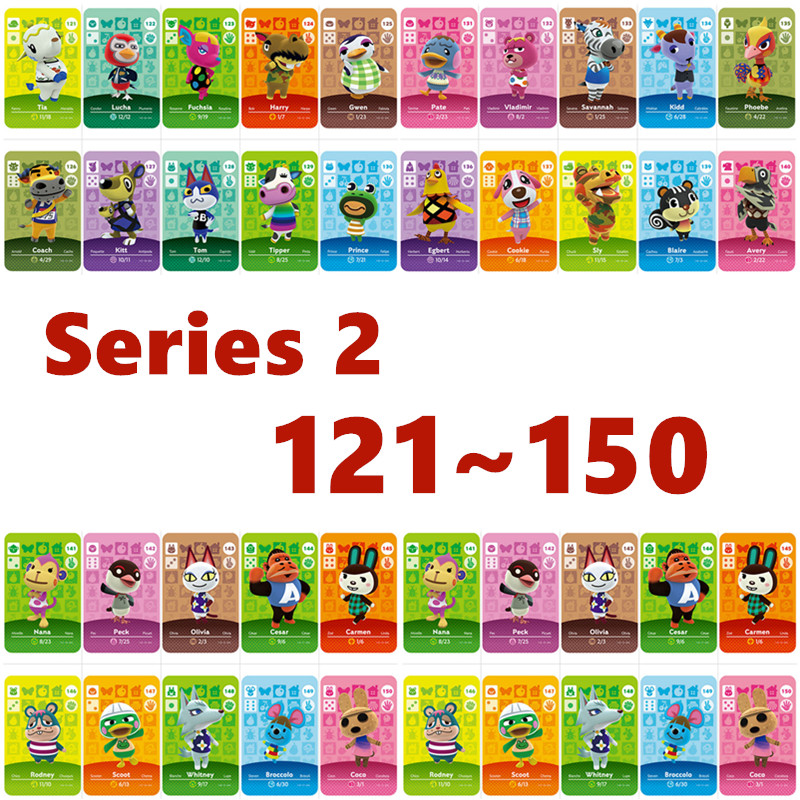 Series 2 (121 To 150) Animal Crossing Card Nfc Amiibo Card Work For NS Games