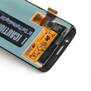 Image 3 - Ban Đầu AMOLED LCD Dành Cho SAMSUNG Galaxy S6 Edge G925U G925F Bộ Số Hóa Màn Hình Cảm Ứng Hiển Thị Đỏ Đốt Cháy