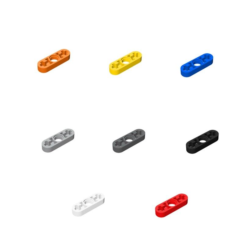 Tech building blocks auto moc-6632 costruzione di parti di 1*3 con un * le connessione foro sottile braccio bullone di montaggio toy boy regalo