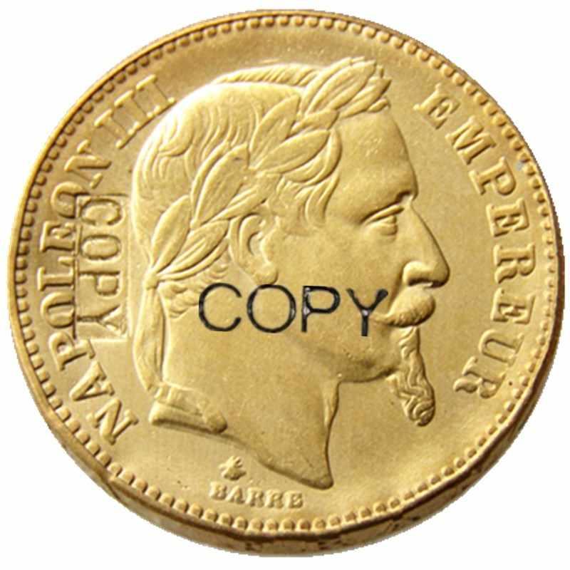 Nước Pháp 20 Franc 1866A Mạ Vàng Bản Sao Đồng Xu
