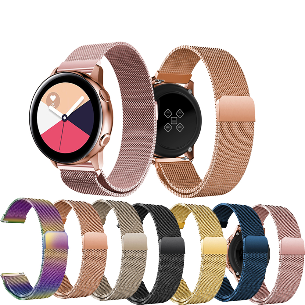 20mm Watchbands For Samsung Gear Watchband Milanese Loop Stainless Steel Strap For Samsung Gear S2 Sport Classic Metal Wristband