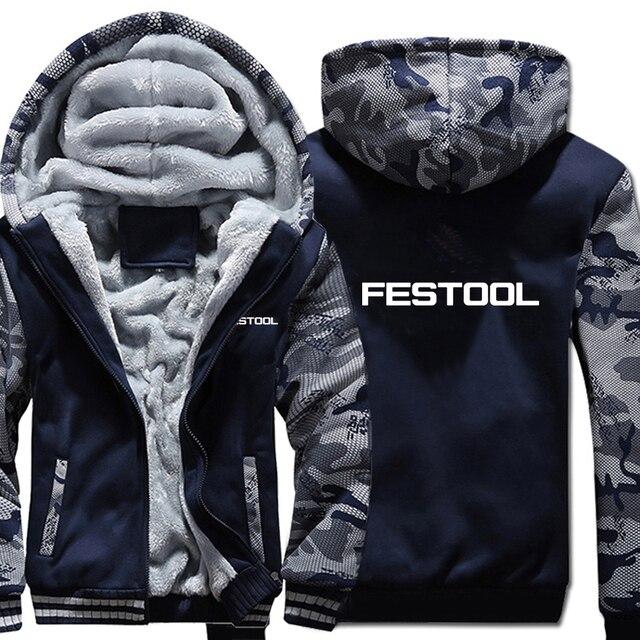 Festool أدوات هوديس التمويه كم سترة هودي سستة الشتاء الصوف Festool أدوات البلوز