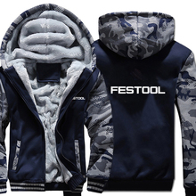 Festool Tools Hoodies Camouflage sleeve Jacket Hoody Zipper Winter Fleece Festool Tools Sweatshirt