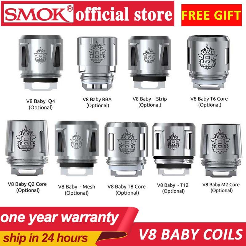 Smok TFV16 mesh triple boils TFV8 Baby Coil Head V8 Baby-T8 V8 Baby-T6 V8 Baby-X4 V8 Baby-Q2 Core para TFV8 BABY Beast Tank