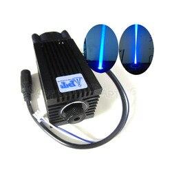DIY CNC 5000 mW/5 W 445nm 450nm regulacja ostrości moduł lasera niebieskiego TTL rury o dużej mocy grawerowanie laserowe dostosować darmowa okulary w Części do maszyn do obróbki drewna od Narzędzia na