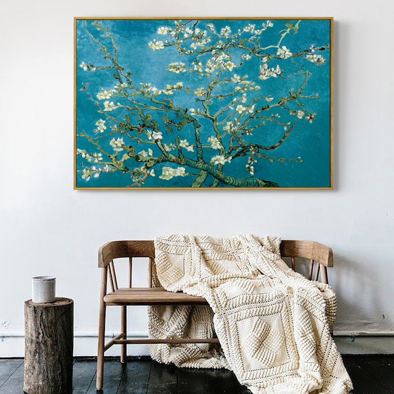 {:en}our vincent van gogh 'almond blossom' wallpaper mural is a depiction of one of. Famous Artist Van Gogh Oil Painting Starry Sky Iris Flower Sunrise Landscape Canvas Painting Print Poster Picture Wall Decor Painting Calligraphy Aliexpress