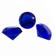 30mm-150mm granatowy kryształ szkło diamentowe ozdoby FengShui strona główna ozdobne kulki na ślub miniatury akcesoria prezenty