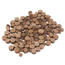 100pcs 1-2CM Blank Wood Slices Discs for DIY Crafts Embellishments(China)