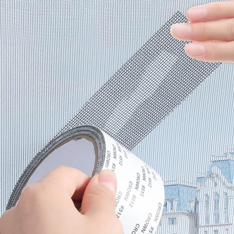 Patch-Tape Bug-Net Mesh Window-Door-Screen Screen-Repair Anti-Mosquito Self-Adhesive