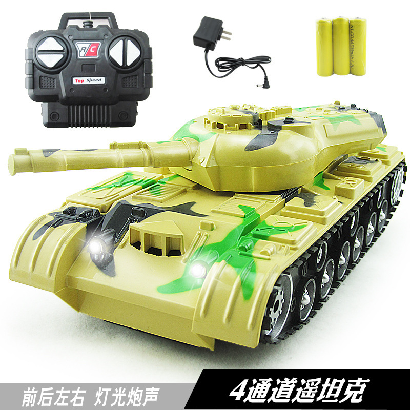 Children Model Model Toy With Light And Music Charging 1: 22 Stone Remote Control Tank