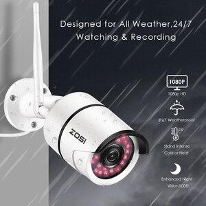 Image 3 - ZOSI 1080P Wifi IP caméra Onvif 2.0MP HD extérieur résistant aux intempéries infrarouge Vision nocturne sécurité vidéo Surveillance caméra