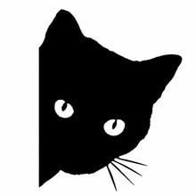 цена на 12*15CM CAT FACE PEERING Car Sticker Decals Pet Cat Motorcycle Decorative Stickers Car Window Decals