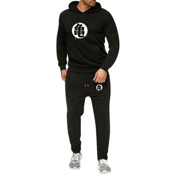Japanese Men 'S Sweater Wukong Dragon Ball Surrounding Recreational Sports Suit Winter Hoodies +Pant Set frommer s® japanese phrasefinder