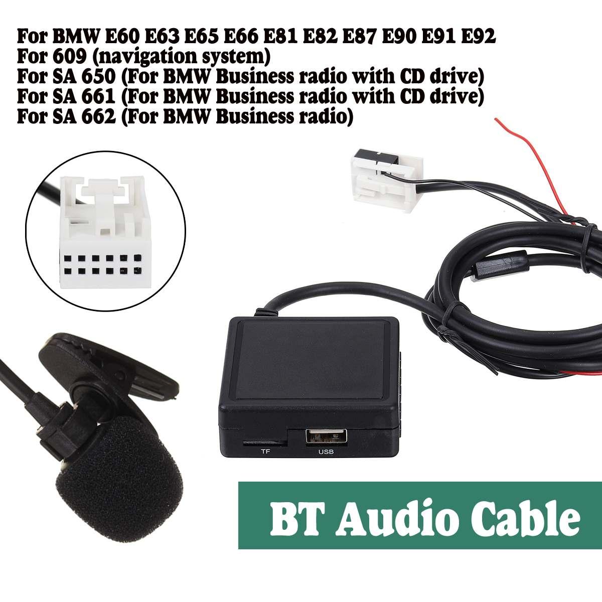 HIFI Audio SD MIC USB Audio bluetooth Receiver Cable Adaptor Radio Stereo For BMW E60 E63 E65 E66 E81 E82 E87 E90