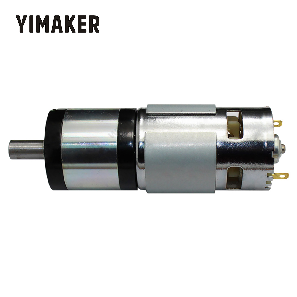 YIMAKER 775 DC 12V/24V 1:125 Permanent Magnet Planetary Gear Motor 42mm Reduction Ratio DC micro motors image