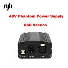 48V Karaoke BM800 Microphone Phantom Power Supply USB XLR Cannon Cable Studio Mikrofon Phantom Power For BM 800 Condenser Mic