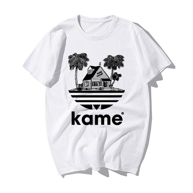 Classic Japanese Anime Dragon Ball T Shirt Funny Master Roshi Kame House Print Tshirt Men Summer Casual Cotton Tshirt Streetwear