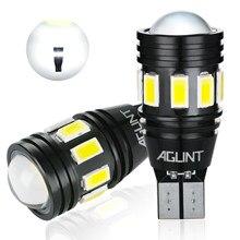 Aglint 2 pces t15 w16w 912 921 lâmpadas led canbus nenhum erro conduziu 5630 3030 smd para o carro back up luzes reversa luz branco 6000k 12-24v