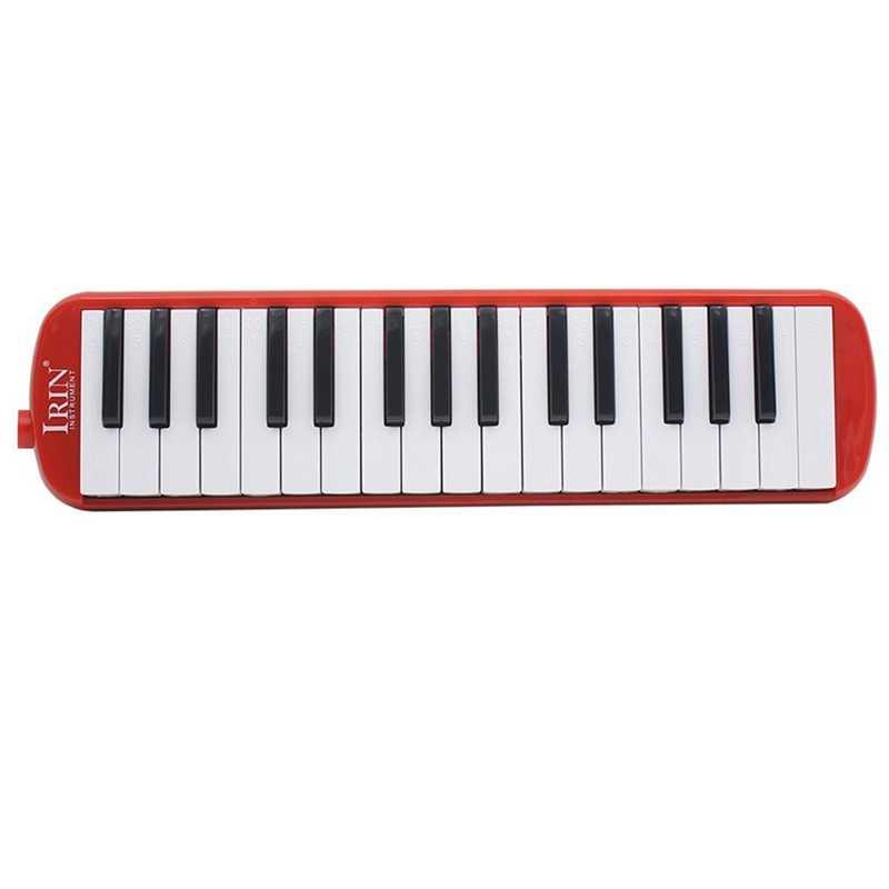 IRIN 1 set 32 مفتاح البيانو نمط ميلوديكا مع صندوق الجهاز الأكورديون الفم قطعة ضربة مفتاح المجلس (أحمر)
