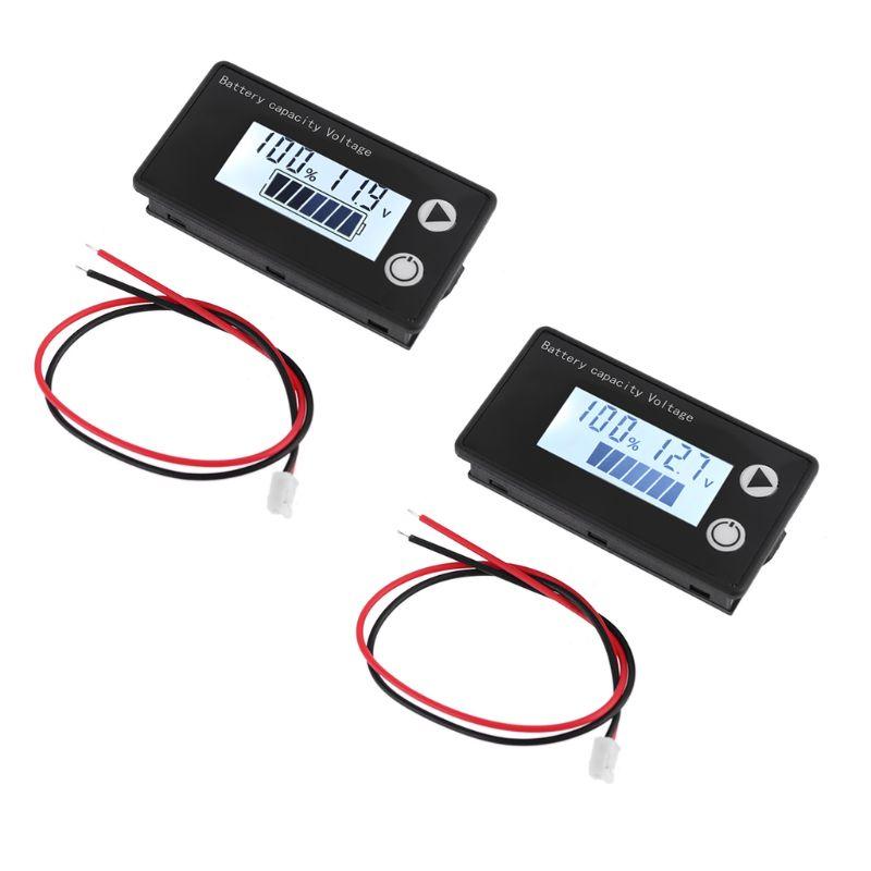 Индикатор емкости аккумулятора 8-100 В постоянного тока свинцово-кислотный литиевый LiFePO4 Ternary литиевый вольтметр Индикатор напряжения 12 в 24 в ...
