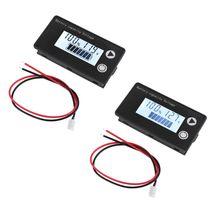 Battery Capacity Indicator DC 8V-100V Lead Acid Lithium LiFePO4 Ternary Lithium Voltmeter Voltage Gauge 12V 24V 48V 72V