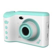 """كاميرا الأطفال هدية للأطفال 2.8 """"IPS شاشة حماية العين HD شاشة تعمل باللمس الرقمية عدسة مزدوجة كاميرا 18MP للأطفال"""