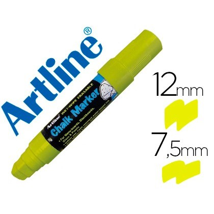 MARKER ARTLINE SLATE GREEN BLACK EPW-12 MM COLOR YELLOW 6 Units