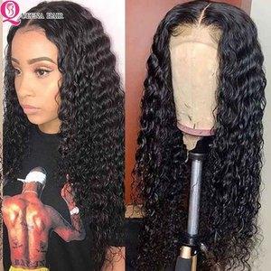 Парики из человеческих волос с глубоким волнистым кружевом спереди для черных женщин 13x 6/360 кудрявый бесклеевой прозрачный кружевной парик ...