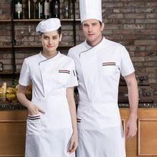 Work-Shirt Cooking-Uniform Chef Waiter Short-Sleeve Hotel Kitchen Restaurant Summer Canteen