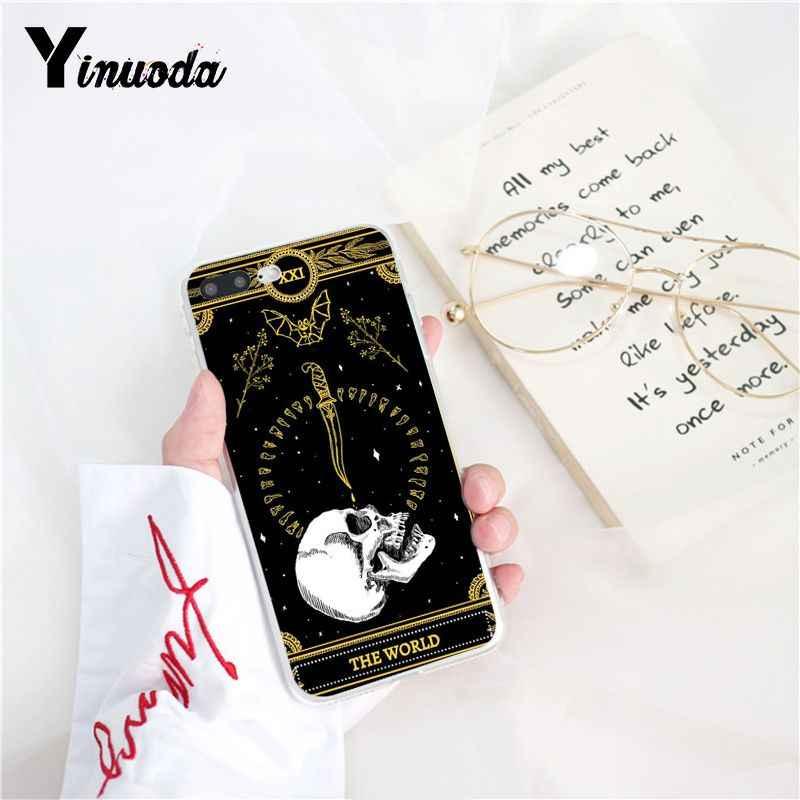 Yinuoda ölüm Tarot lüks benzersiz tasarım telefon kapak iPhone 6S 7 7 artı 8 8 artı X Xs MAX 5 5S XR 11 Pro Max