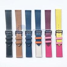 חדש 20mm אופנה אמיתי עור להקת שעון רצועת לxiaomi Huami Amazfit ביפ קצת קצב לייט נוער החלפת יד להקת רצועה
