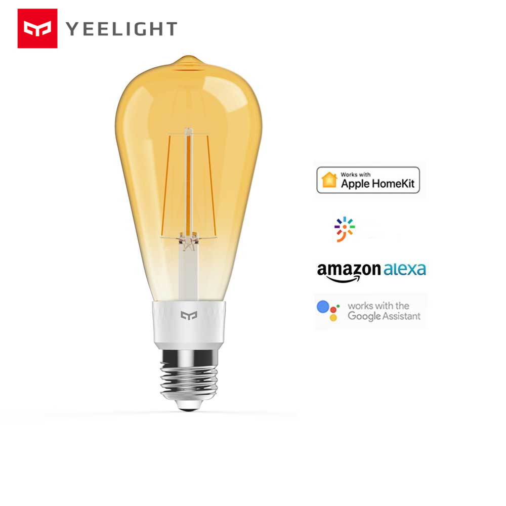 2020 New Original Yeelight Smart LED Filament Bulb YLDP23YL 500 Lumens 6W Lemon Smart bulb Work for Apple homekit Smart Home APP