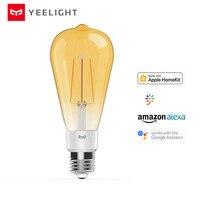 Lâmpada yeelight inteligente, lâmpada com filamento led original, yld23il, 2020 lúmens, 6w, limão, lâmpada inteligente, para apple homekit, novo, 500 aplicativo de casa inteligente