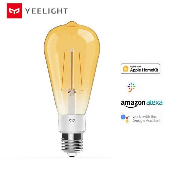 Yeelight bombilla de filamento LED inteligente YLDP23YL, 2020 lúmenes, 6W, Lemon, para Apple homekit, aplicación de hogar inteligente, 500