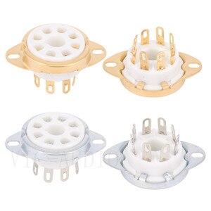 Image 1 - 10 sztuk 8Pins Big otwór rury gniazdo podstawa ceramiczna dla KT88 KT66 EL34 6SN7 GZ34 5881 6V6 5U4G 6550C wzmacniacz lampy elektronowej Audio HIFI