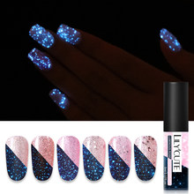 LILYCUTE 5ml Luminous Gel Polish Rose Gold Shimmer Glitter Gel Lacquer Semi Permanent Soak Off UV LED Nail Art Gel Varnish(China)